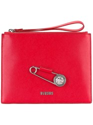 Versus Oversized Pin Clutch Red