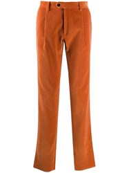Etro Casual Corduroy Trousers Orange