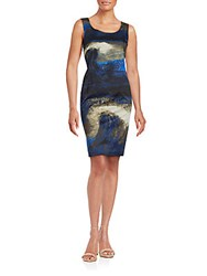Lafayette 148 New York Rebecca Cotton Blend Dress Nightfall