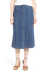 Women's Nydj 'Carly' Button Front Denim Midi Skirt Anderson
