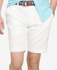 Polo Ralph Lauren Core Classic Fit Flat Front Chino Shorts White