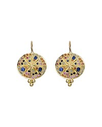 Temple St. Clair 18K Yellow Gold Pave Sorcerer Earrings Multi Gold
