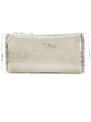 Edie Parker Chainmail Mesh Box Clutch Metallic