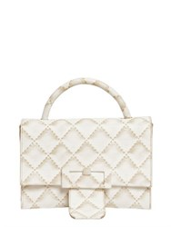 Maison Martin Margiela Quilted Print Leather Shoulder Bag