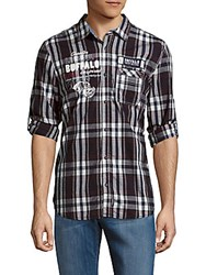 Buffalo David Bitton Sandor Regular Fit Plaid Shirt Whale Mix