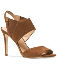 Michael Kors Marti Slingback Dress Sandals Women's Shoes Dk Caramel