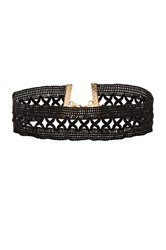 Vanessa Mooney X Lace Choker Black