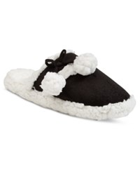 Charter Club Faux Sherpa Scuff Slippers Only At Macy's Black