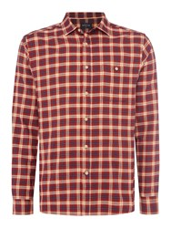 Howick Men's Williamsburg Check Long Sleeve Shirt Rust