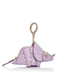 Kate Spade New York Triceratops Leather Coin Case Lilac Cream Gold