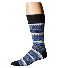 Cole Haan Fair Isle Crew Navy Men's Crew Cut Socks Shoes