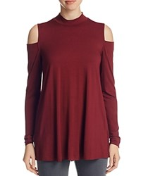 Three Dots Cold Shoulder Tunic 100 Bloomingdale's Exclusive Malbec