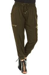 City Chic Plus Size Women's 'Festival Time' Cargo Pants Olive