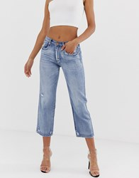 Blank Nyc Empoty Threat Mom Jeans Blue