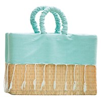 Scents And Feel Hand Crafted Lined Basket Aqua
