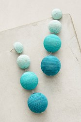 Anthropologie Ombre Orb Drop Earrings Turquoise