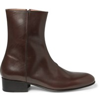 Paul Smith Bardo Leather Boots Chocolate
