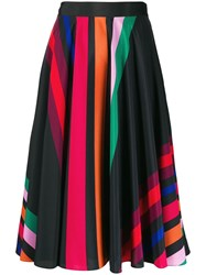 Paul Smith Ps Striped Midi Skirt Black