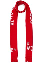 Off White Scorpian Scarf Red