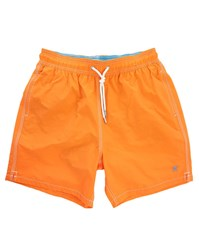 Hackett Orange Solid Volley Swim Shorts