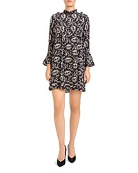 The Kooples Rodeo Snake Print Silk Dress Beige