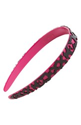 L. Erickson 'Layered Lace' Headband Pink Fuchsia Black