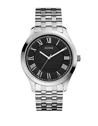 Guess Mens Classic Stainless Steel Bracelet Watch Silver