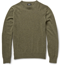 A.P.C. Wool And Cashmere Blend Sweater Green