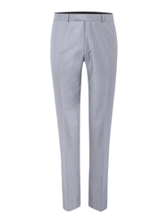 Kenneth Cole Lance Flat Front Suit Trousers Light Grey