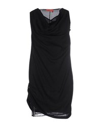 Manila Grace Denim Dresses Short Dresses Women Black