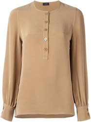 Joseph Bishop Sleeve Blouse Brown