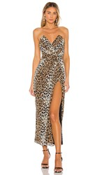 Katie May Come On Home Dress In Brown. Leopard