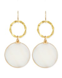 Mother Of Pearl And Gold Foil Earrings Devon Leigh