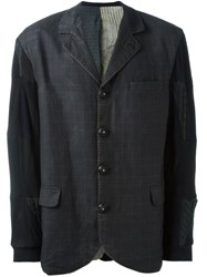 Geoffrey B. Small Patchwork Blazer Grey