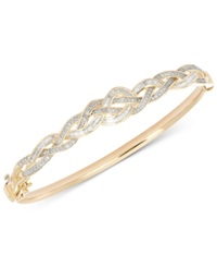 Wrapped In Love Diamond Braided Bangle Bracelet 1 Ct. T.W. In 10K Gold