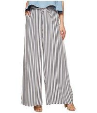 Bb Dakota Maximus Shades Of Grey Printed Rayon Challis Deep Pleat Pants White Women's Casual Pants