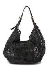 Emporio Armani Mesh Grid Tote And Pouch Black