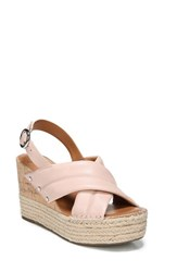 Sarto By Franco Sarto 'S Niva Espadrille Wedge Sandal Blush Leather