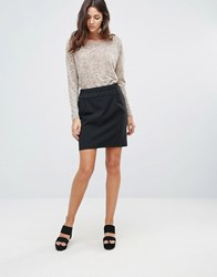 B.Young Mini Skirt Black