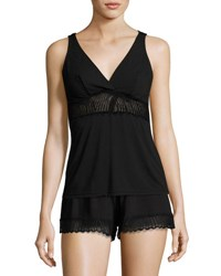 Cosabella Minoa Lace Trim Sleep Camisole Black
