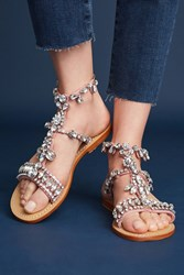 Anthropologie Mystique Gemstone Gladiator Sandals Pink