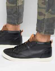 Aldo Agroiwien Mid Plimsolls In Black Leather Black