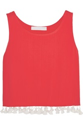 Kain Label Sandy Tassel Trimmed Crepe Tank Red