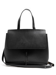 Mansur Gavriel Lady Leather Tote Black Red