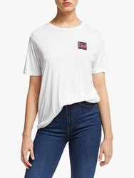 Lee Relaxed Fit T Shirt Bright White