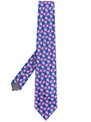 Canali Floral Tie Blue