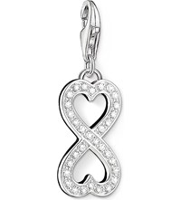 Thomas Sabo Charm Club Silver And Zirconia Infinity Heart Charm