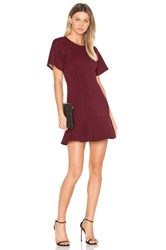 Blq Basiq Tee Flare Dress Wine