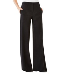Bcbgmaxazria Daniel Pinstriped Wide Leg Pants Black Pin Stripe