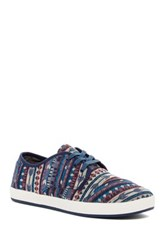 Toms Paseo Aztec Print Lace Up Sneaker Blue